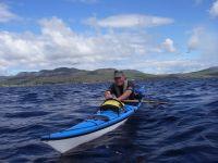 Sean Pierce kayaking off Mull, Scotland
