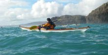 Kayaking under Doonbeg Head, An tOileán Mór, West Cork.